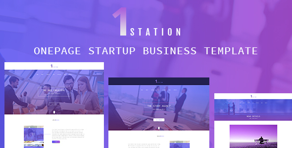 1STATION- One Page Startup Business Template            TFx