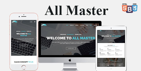 All Master Business HTML Template            TFx