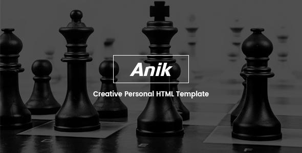 Anik - Personal Portfolio Template            TFx