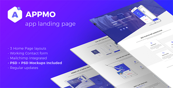 Appmo App Landing Page            TFx