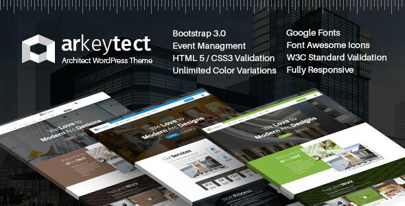 Architecture WordPress Theme - Arkeytect            TFx