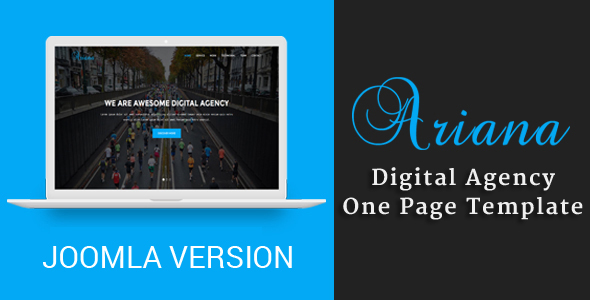 Ariana - Digital Agency One Page Joomla Theme            TFx