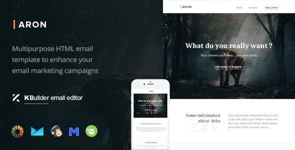 Aron – Responsive Email Template + Kbuilder Offline            TFx