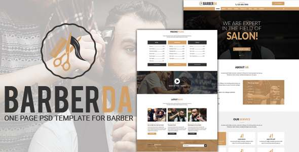 BARBERDA - One-Page PSD Template for BARBER            TFx