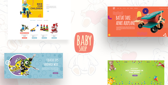 Babyshop - Beautiful PSD Template for Baby Stores            TFx
