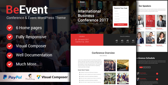 BeEvent - Conference & Event WordPress Theme            TFx