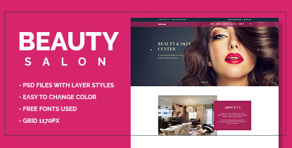 Beauty Salon Onepage PSD            TFx