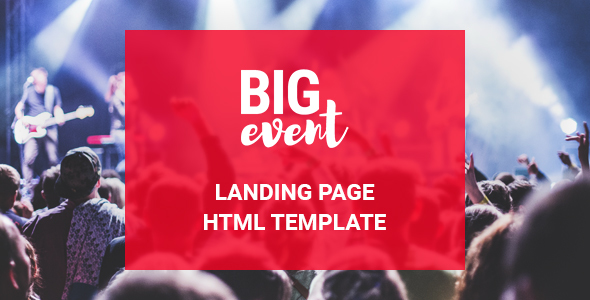 BigEvent Landing Page HTML Template            TFx