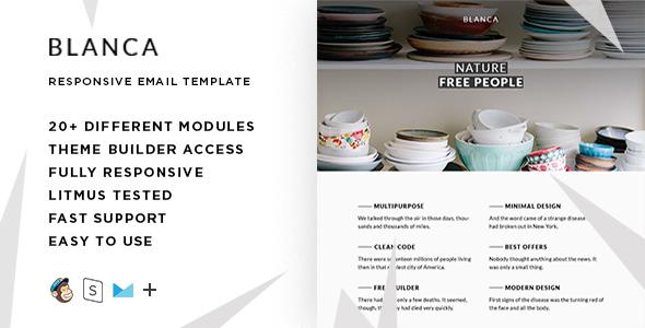 Blanka – Responsive Email + StampReady Builder            TFx