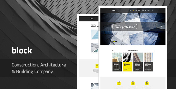 Block — Construction, Architecture, Building Company PSD Template            TFx
