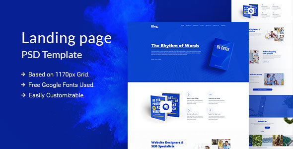 Blog PSD Template            TFx