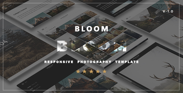 Bloom  - Responsive  Photography Portfolio Template            TFx