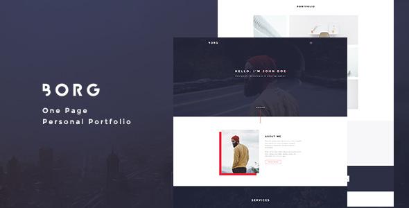 Borg - One Page Personal Portfolio            TFx