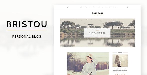 Bristou - WordPress Theme For Modern Bloggers            TFx