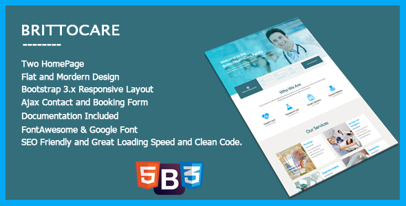 BrittoCare - Responsive Medical and HealthCare Template            TFx