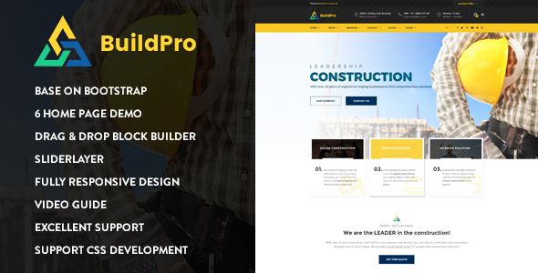 BuildPro – Construction Drupal 8 Theme            TFx
