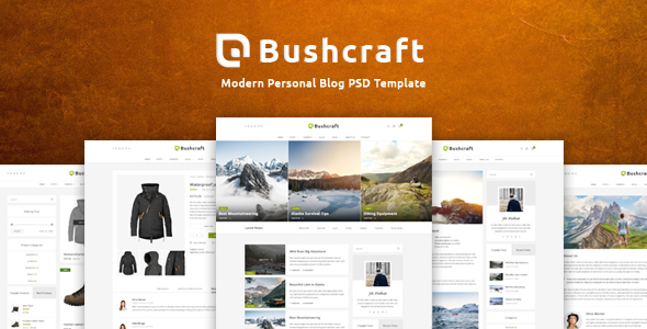 Bushcraft - Personal Blog Template            TFx