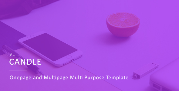Candle |  One & Multipage Multi-purpose Template            TFx
