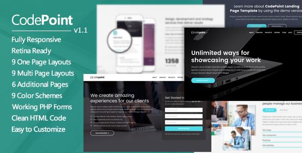CodePoint - Premium Multi-Purpose Landing Page            TFx