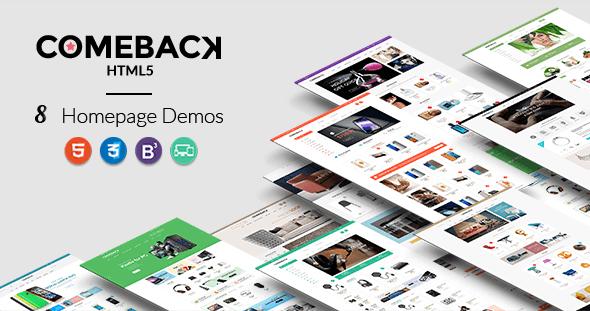 Comeback – Premium Multipurpose HTML5 theme            TFx