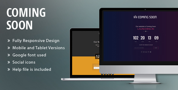 Coming Soon HTML Template            TFx