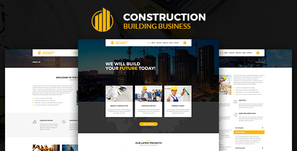 Construction – Construction Building Business PSD Template            TFx