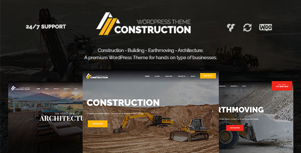 Construction – Construction WordPress Theme for Construction, Building & Construction Companies            TFx