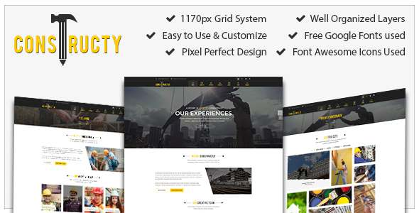 Constructly – Construction, Architecture, Medical, Education, Corporate, Template            TFx
