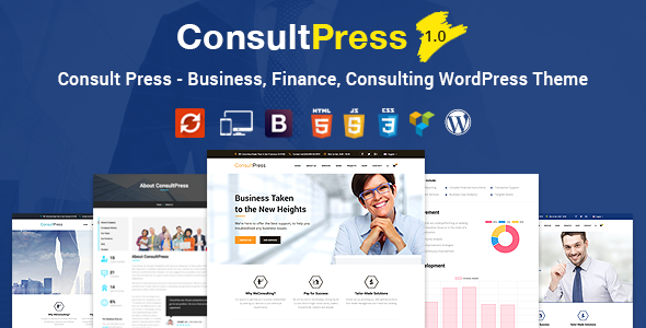 Consult Press - Finance & Consulting Business WordPress Theme            TFx