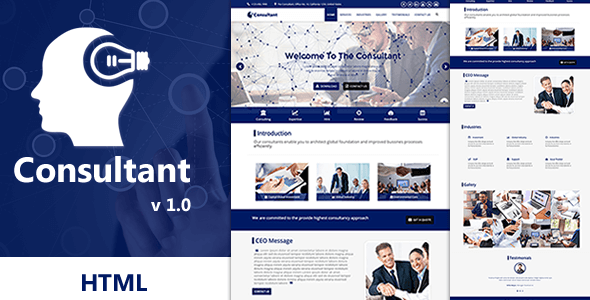 Consultant - OnePage Multi-Purpose HTML Template            TFx