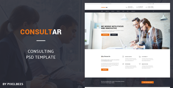 Consultar – Consulting/Business PSD Template            TFx