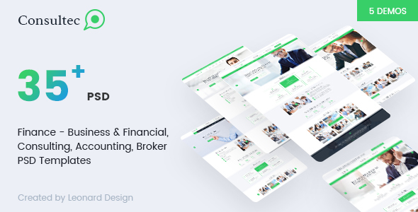 Consultec | Multipurpose Business & Financial, Consulting, Accounting, Broker Psd Templates            TFx