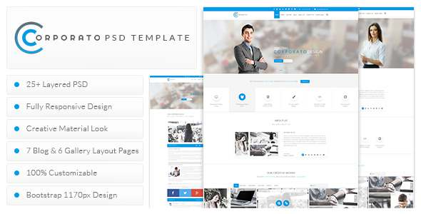 Corporato Business PSD Template            TFx
