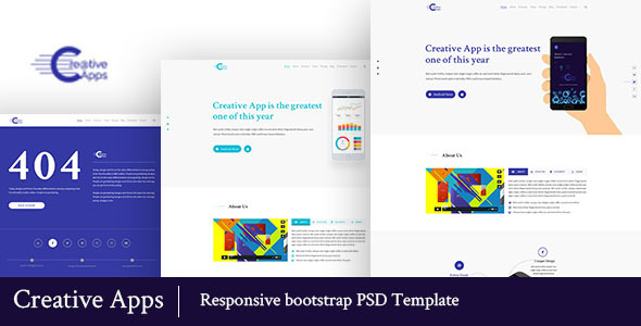 Creative Apps- Mobile Apps PSD Template            TFx