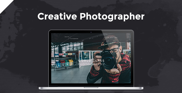 Creative Photographer PSD Template            TFx