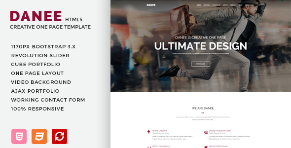 DANEE – Onepage HTML5 Template            TFx