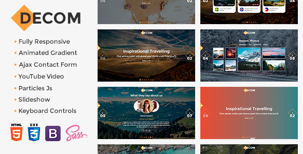 Decom - Modern Travelling Bootstrap Template            TFx