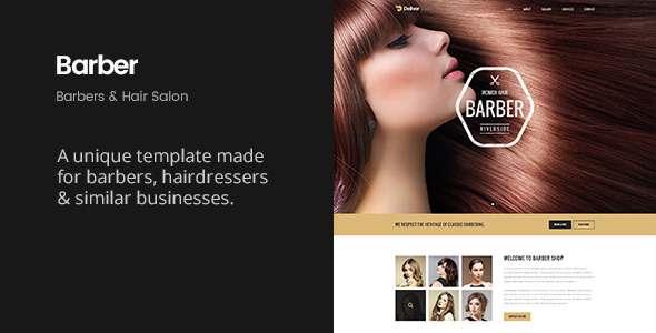 Deliver Barber | Hairdresser & Hair Salon Template            TFx
