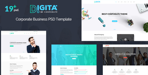 Digita - Corporate Business PSD Template            TFx