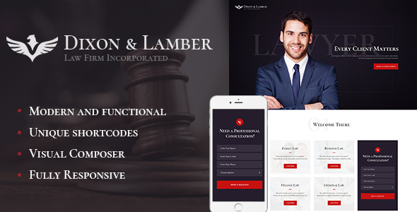 Dixon & Lamber | Law Firm WP Theme            TFx