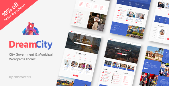 Dream City - City Portal & Government Municipal WordPress Theme            TFx
