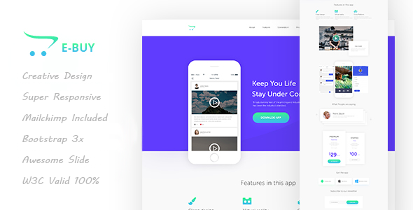 E-Buy HTML5 Apps Landing Template            TFx