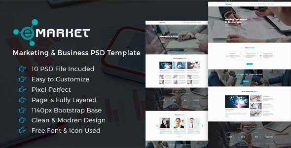 E-Market Business PSD Template            TFx
