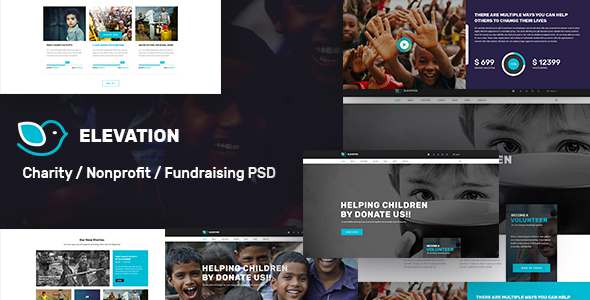 ELEVATION - Charity / Nonprofit / Fundraising PSD Template            TFx