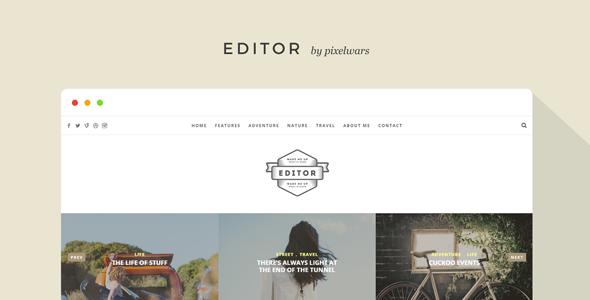 Editor – Blog and Portfolio Template            TFx