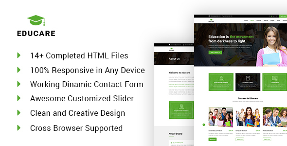 EduCare - Learning & Academy HTML Template            TFx