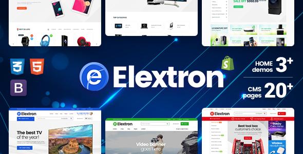 Elextron - Gadgets & Digital Responsive Massive Dynamic Shopify Theme            TFx