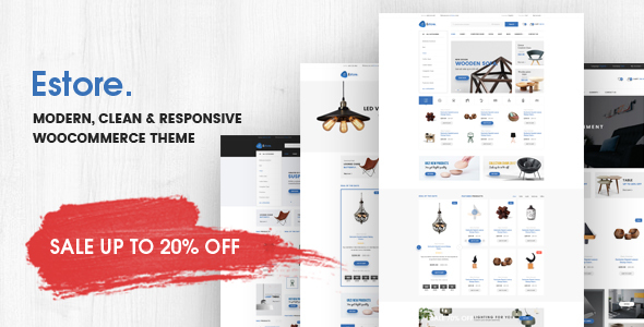 Estore - Modern Clean WooCommerce WordPress Theme            TFx