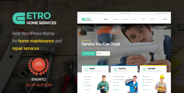 Etro - Home Maintenance, Repair and Improvement Services WordPress Theme            TFx