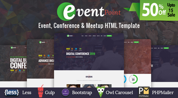 Event Point – Event, Conference & Meetup HTML Template            TFx